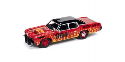JOHNNY LIGHTNING 1/64scale 1974 Dodge Monaco Red & Black (Demolition Derby)  [No.JLSF017A5R]