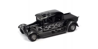 JOHNNY LIGHTNING 1/64scale 1929 Ford Crew Cab Truck Black (Black / Frames)  [No.JLSF017B2BK]