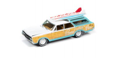 JOHNNY LIGHTNING 1/64scale 1964 Oldsmobile Vista Cruiser White / Seafoam  [No.JLSF018A5W]