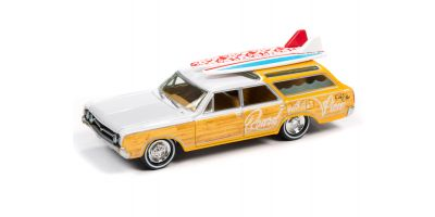 JOHNNY LIGHTNING 1/64scale 1964 Oldsmobile Vista Cruiser White / Yellow  [No.JLSF018B5W]