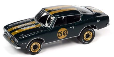 JOHNNY LIGHTNING 1/64scale 1967 Plymouth Barracuda Green / Gold Line # 56  [No.JLSF019A2G]