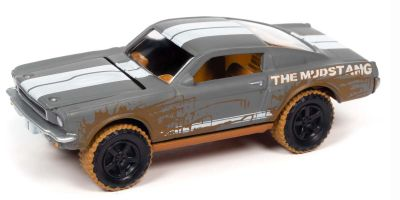 JOHNNY LIGHTNING 1/64scale 1966 Shelby GT350 Gray / White Line Dirty Version  [No.JLSF019A3GR]