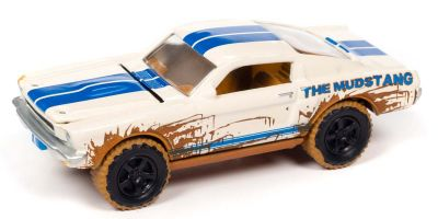 JOHNNY LIGHTNING 1/64scale 1966 Shelby GT350 White / Blue Line Dirty Version  [No.JLSF019B3WB]