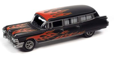 JOHNNY LIGHTNING 1/64scale 1959 Cadillac Ambulance Flat Black / Raid Frames  [No.JLSF019B4BR]
