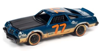 JOHNNY LIGHTNING 1/64scale 1977 Oldsmobile Cutlass Stock Car Blue / Demolition Derby # 77  [No.JLSF019B5BG]