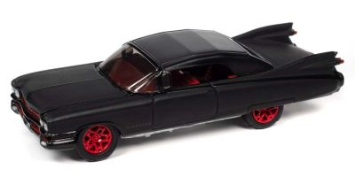 JOHNNY LIGHTNING 1/64scale 1959 Cadillac Eldorado Convertible Black / Red Wheels  [No.JLSF019B6BR]