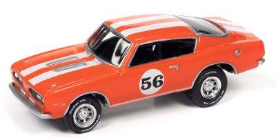 JOHNNY LIGHTNING 1/64scale 1967 Plymouth Barracuda Orange / White Line # 56  [No.JLSF019B2OR]
