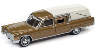 JOHNNY LIGHTNING 1/64scale 1966 Cadillac Hearse (Gold)  [No.JLSP090]