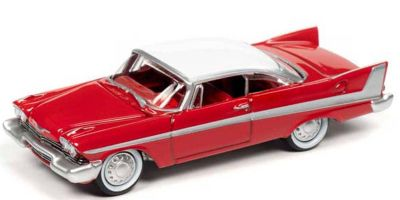 "JOHNNY LIGHTNING 1/64scale Christine 1958 Plymouth Fury (Red) Car in the movie ""Christine""  [No.JLSP095]"