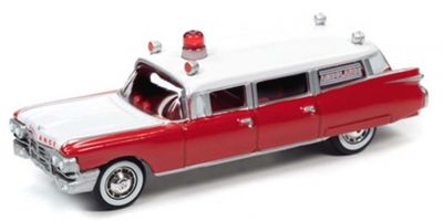 JOHNNY LIGHTNING 1/64scale 1959 Cadillac Ambulance Red  [No.JLSP098]