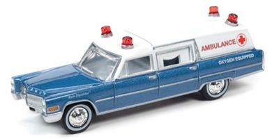JOHNNY LIGHTNING 1/64scale 1966 Cadillac Ambulance Blue  [No.JLSP099]