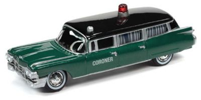JOHNNY LIGHTNING 1/64scale 1959 Cadillac Coroner Car Dark Green / Black  [No.JLSP100]