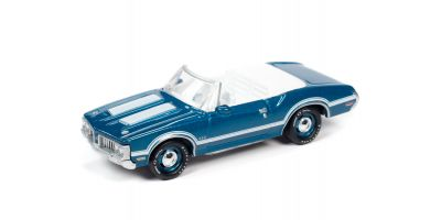JOHNNY LIGHTNING 1/64scale 1970 Oldsmobile 442 Convertible Aqua Blue  [No.JLSP102A]
