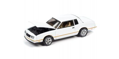 JOHNNY LIGHTNING 1/64scale 1987 Chevrolet Monte Carlo White / Gold Stripe  [No.JLSP104A]