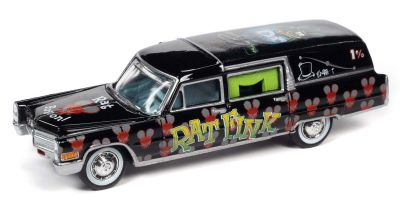 "JOHNNY LIGHTNING 1/64scale 1966 Cadillac hearse ""Rat Fink""  [No.JLSP142]"