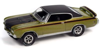 JOHNNY LIGHTNING 1/64scale 1971 Buick GSX Lime Mist Green / Black  [No.JLSP151B]