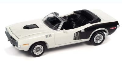 JOHNNY LIGHTNING 1/64scale 1971 Plymouth Couda Convertible Snow White / Black  [No.JLSP153A]