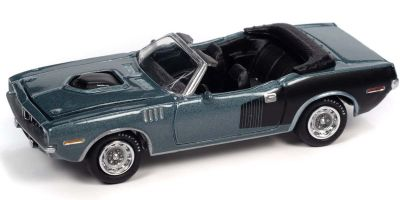JOHNNY LIGHTNING 1/64scale 1971 Plymouth Couda Convertible Winchester Gray / Black  [No.JLSP153B]
