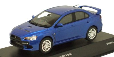 KYOSHO 1/43scale Mitsubishi Lancer Evolution X GSR Lighting Blue Mica [No.K03492BL]