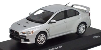 KYOSHO 1/43scale Mitsubishi Lancer Evolution X GSR CoolSilver Metallic [No.K03492S]