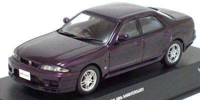 KYOSHO 1/43scale Skyline GT-R(R33) AUTECH Version 40th Aniv. 4Door Midnight Purple [No.K03711MP]