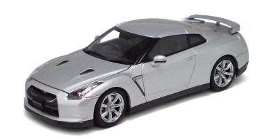 KYOSHO 1/43scale Nissan GT-R (R35) Silver Bonnet/Trunk Open Model  [No.K05501S]