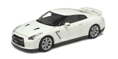 KYOSHO 1/43scale Nissan GT-R (R35) White Bonnet/Trunk Open Model  [No.K05501W]