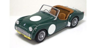 KYOSHO 1/18scale Triumph TR3A Racing Plain Green [No.K08032GY]