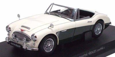 KYOSHO 1/18scale AUSTIN HEALEY 3000 Mk-II White / Green [No.K08142WG]