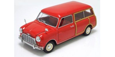 KYOSHO 1/18scale Morris Mini Traveller Red [No.K08195R]