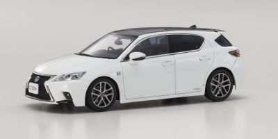 KYOSHO 1/43scale Lexus CT200h F SPORT White Nova  [No.KS03656W2]
