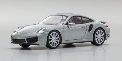 KYOSHO 1/64scale Porsche 911 Turbo 991 Silver [No.KS07048A15]