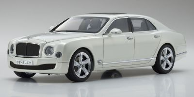 KYOSHO ORIGINAL 1/18scale Bentley Mulsanne Speed  Ghost White  [No.KS08910GHW]