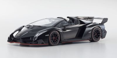 OUSIA 1/18scale Lamborghini Veneno Roadster Black / Red Line [No.KSC09502BKR]