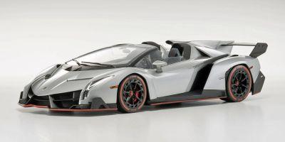 OUSIA 1/18scale Lamborghini Veneno Roadster Gray / Red Line [No.KSC09502GR]