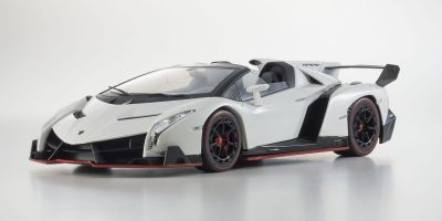 OUSIA 1/18scale Lamborghini Veneno Roadster White/Red Line [No.KSC09502W]
