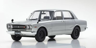 SAMURAI 1/18 scale Nissan Skyline 2000GT-R PGC10 (Silver) Limited to 700 units  [No.KSR18050S]