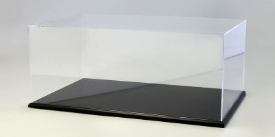 KYOSHO ORIGINAL Acrylic case & wooden display base set (large) Black  [No.KS02071]