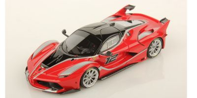 LOOKSMART 1/43scale Ferrari FXX-K Rosso Scuderia - Silver Racing Livery No.12 ※ Red  [No.LS445C]