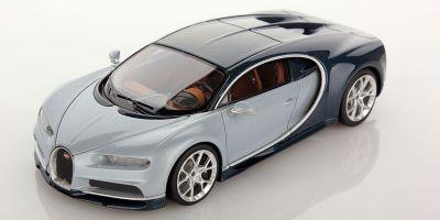 LOOKSMART 1/43scale Bugatti Chiron Turquoise Carbon / Liquid Silver  [No.LS459F]
