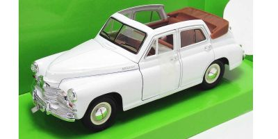 LUCKY DIE CAST 1/24scale GAZ M20 Pobeda WHITE [No.LUC24215W]