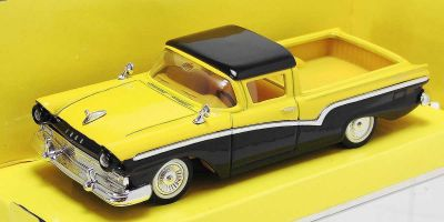 LUCKY DIE CAST 1/43scale 1957 Ford Ranchero YELLOW/BLACK [No.LUC94215YB]