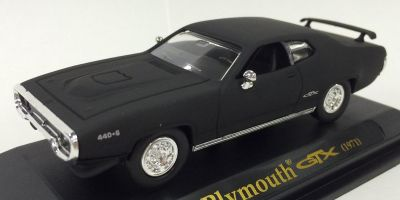 LUCKY DIE CAST 1/43scale 1971 Plymouth GTX Matt Black [No.LUC94218B]