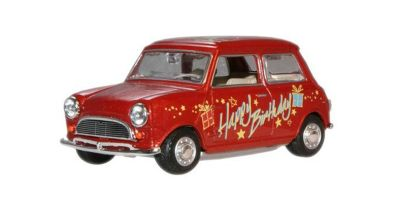 "OXFORD 1/43scale Mini Cooper  Red  ""Happy Birthday""  [No.OXMIN017]"
