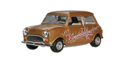 "OXFORD 1/43scale Mini Cooper  Gold  ""Congratulations!""  [No.OXMIN018]"