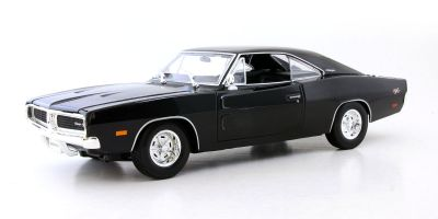 MAISTO 1/18scale 1969 Dodge Charger R/T Metallic Black  [No.MS31387MBK]