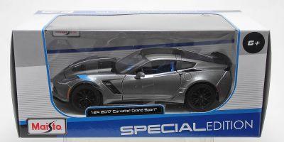 MAISTO 1/24scale 2017 Corvette Grand Sports Metallic Gray  [No.MS31516MGR]