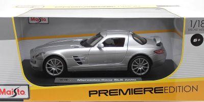 MAISTO 1/18scale Mercedes Benz SLS AMG Silver  [No.MS36196S]