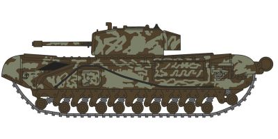 OXFORD 1/148scale Churchill Tank 142 RAC Tunisia 1943  [No.OXNCHT003]
