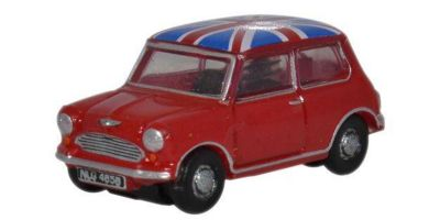 OXFORD 1/148scale Austin Mini (Tartan Red / Union Jack)  [No.OX148NMN001]